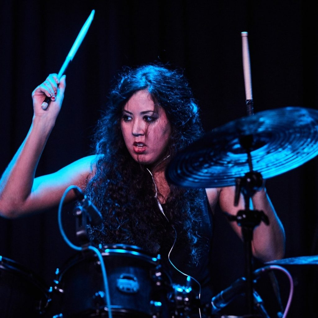 Drummer at music industry event