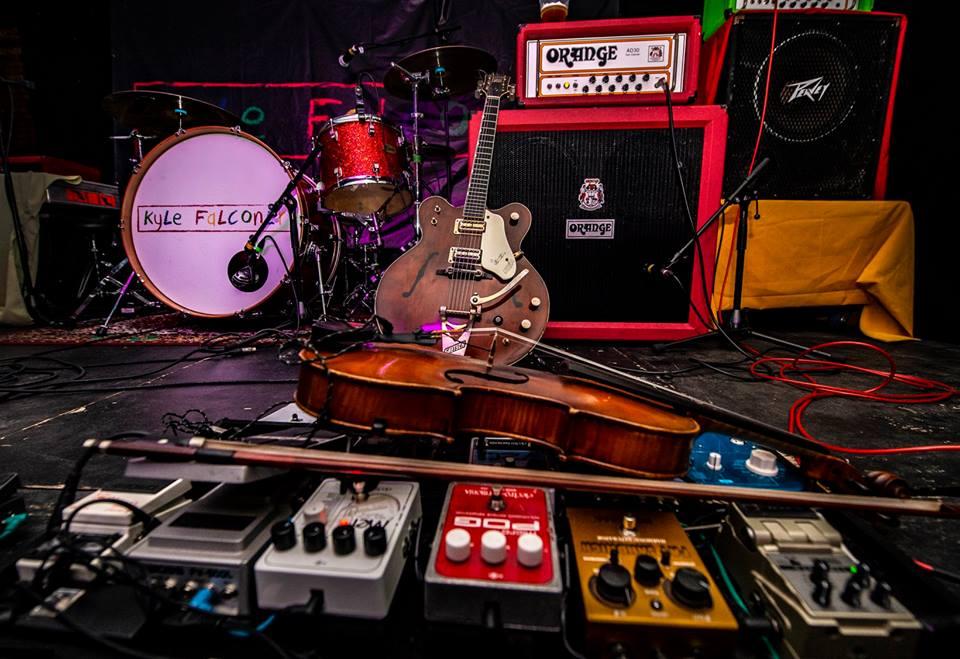 Angela's viola and pedal board - Gary Prior 2018